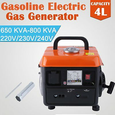 Household Petrol Gasoline Generator 750W 240V Rated Singlephase Camping !