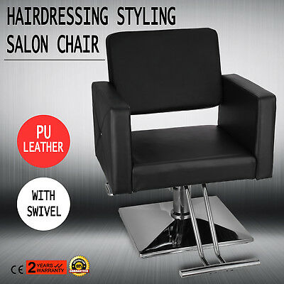 Salon Styling Chair Beauty Hairdressing Barber Hair Cut Black  INDUSTRY SUPPLY