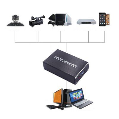 Video Adapter HDMI to USB3.0 Video Capture Box HD 1080P 60FPS For Windows qJ