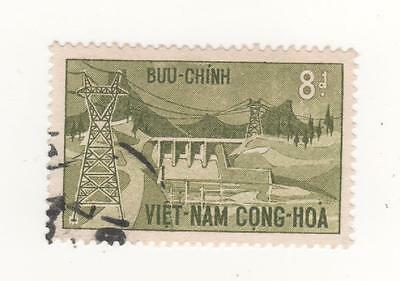 1964 South VIETNAM 8p. Inaug. of Dankin Hydro - Electric station SG#S210 USED