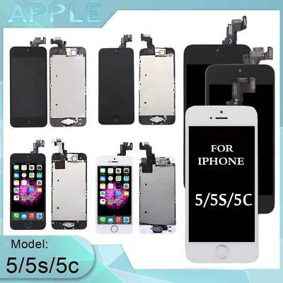 For iPhone 5C 5S 5 SE LCD TOUCH Screen Digitizer Home Button Camera Replacement