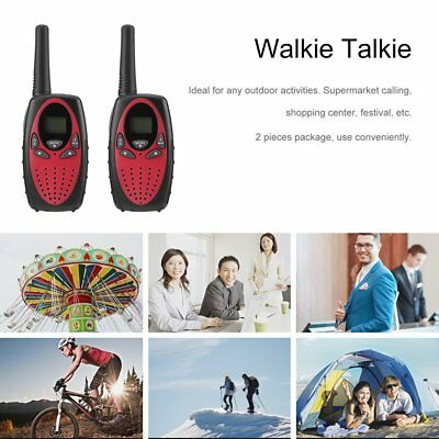 2Pcs Walkie Talkie Two-way Radio Wireless Interphone With LCD Belt Clip Hot UK