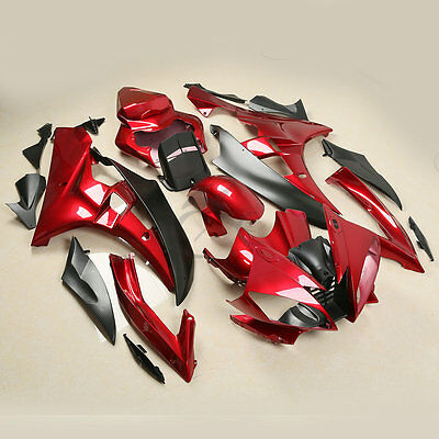 Red ABS Plastic Injection Fairing Bodywork For Yamaha YZFR6 YZF-R6 2006-2007