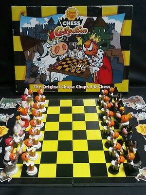 Vintage Chupa Chups The Original 3D Chess Collection Board Game 100% complete