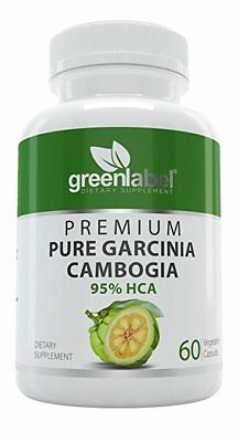 Garcinia Cambogia 100% Pure Extract With 95% Hydroxycitric Acid Green Label