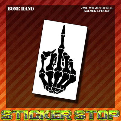 BONE HAND MYLAR STENCIL ( Airbrush, Craft, Re-Usable, Fingers)