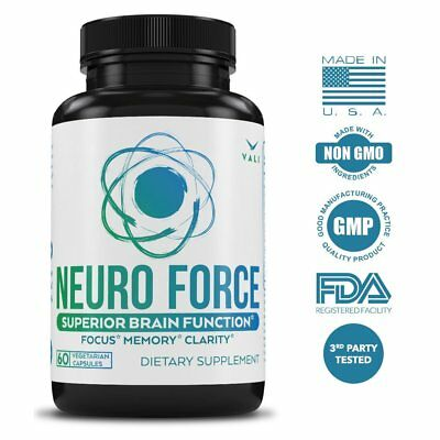 Brain Booster Supplement For Focus, Memory, Clarity, And Energy - 60 Veggie For