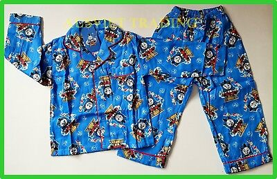 BNWT Thomas The Tank boys Pyjamas flanelle long sleeve top shirt pants sleepwear