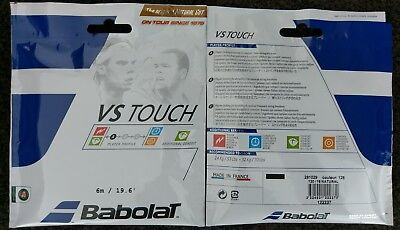 4x 6m Packets of Genuine Babolat VS TOUCH Natural Gut 1.30mm Tennis String