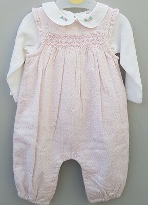 New Ex John Lewis Baby Girl Pink Floral Cord Outfit Gift.  0 3 6 8 10 12 18 mths