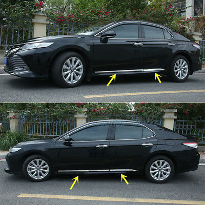 New Stainless Steel Chrome Body Molding Door Trim For Toyota Camry 2018 2019