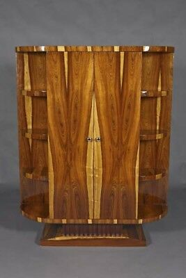 Exclusive Bookcase Wardrobe in the Art Deco Style Rosewood