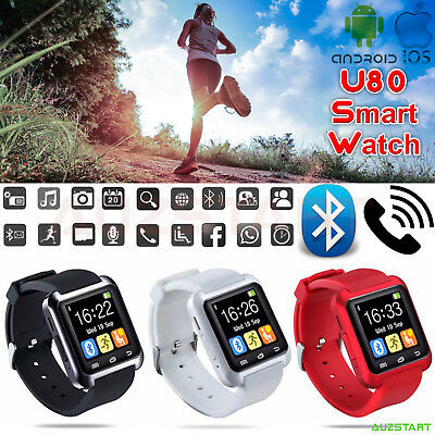 Bluetooth SmartWatch Touch screen Smart Watch Phone for IOS Android IPhone AU