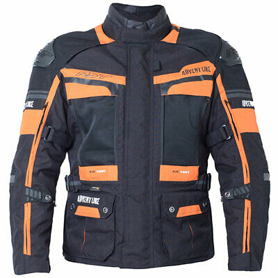 RST Motorbike Motorcycle Pro Series Adventure 3 Textile Jacket - Black / Orange