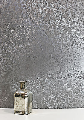 Luxury Foil Crushed VELVET Metallic Vinyl GUNMETAL Wallpaper 294305 Arthouse