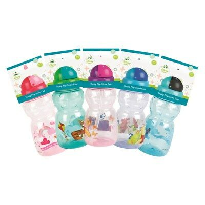 Disney Baby Flip Straw Cup Toddler Drinking Water Bottle Kids Sippy Cup BPA Free