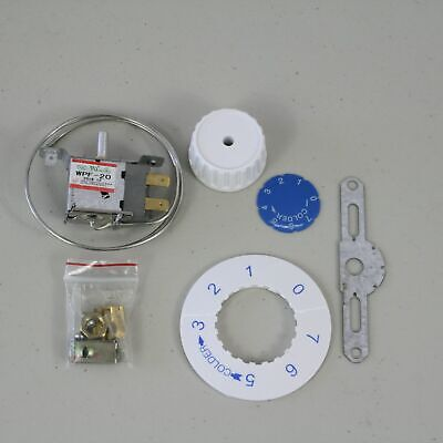 WPF-20 Universal Thermostat 2-pins KIT Freezer Refrigerator with Bracket Dial