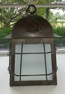 Vintage Brass Or Bronze Arts & Crafts Bungalow Mission Porch Hall Lantern