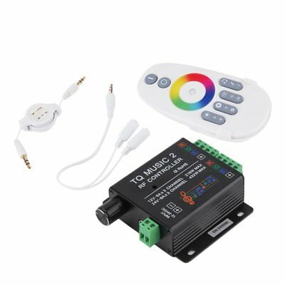 Sound Audio LED RGB RF Music Controller Touch Remote 2 Channel 12/24V 18A&K