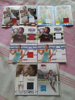 Tennis Anastasia MYSKINA Ace Authentic 10 Memorabilia Jersey cards LOT