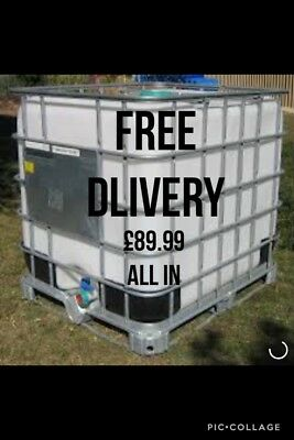 Ibc Tank 1000 Litres FREE DELIVERY water Bowser Water Butt All In £89.99..