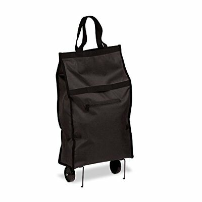 Honey-Can-Do CRT-05978 Fabric Rolling Bag Cart with Handles Holds Up To 40-Po...
