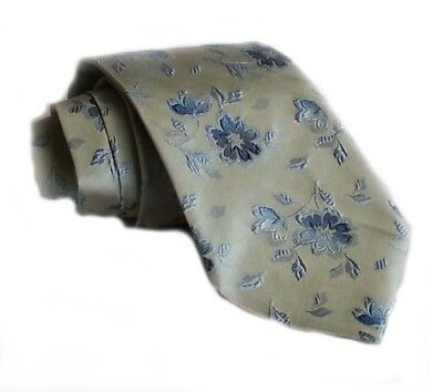 HUGO BOSS men neck dress tie with floral pattern MADE IN ITALY NWT