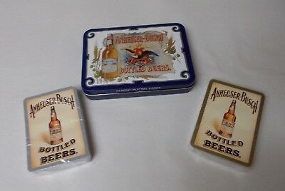 Vintage Anheuser Busch Playing Cards 1988 2 decks in Collectible Tin