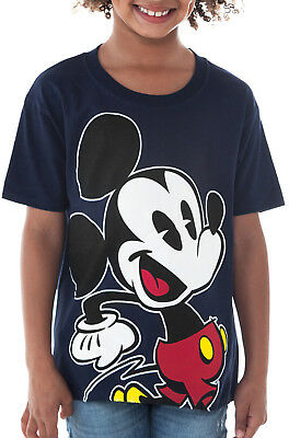Boys Disney Mickey Mouse T-Shirt - Short Sleeve Navy Blue