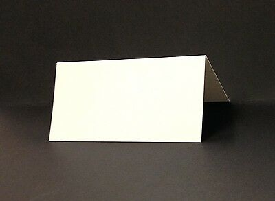 Place Cards - Pack Of 50 - 350gsm Silk White Card - 100 x 50mm Once Folded