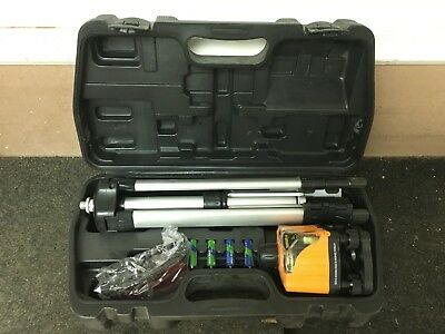 Johnson 40-0918 Manual Rotary Laser Level Kit with Tripod Glasses and Case