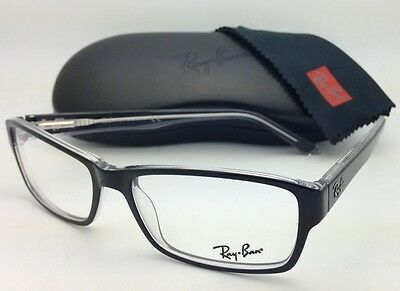 NEW RAY BAN RB5169 2034 Men s Black   Clear Rx Designer Eyeglasses ... a6f4ae7572