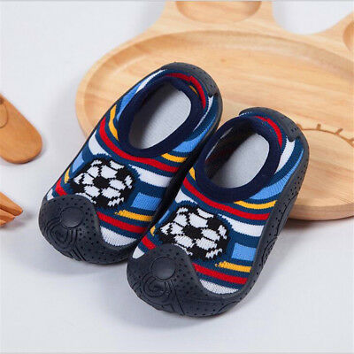 Baby boy slippers Socks Anti Slip With Rubber Soles size 5.5