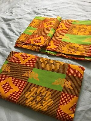 African Ghana Kente Buba /Blouse/Tops - African Bright Colourful Material 6yards