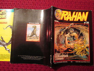 Rarissime Exceptionnel Rahan 36 With Supplement Poster Attache/no Strange/spidey