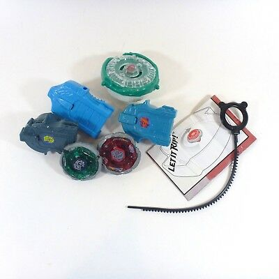 Lot 7 Beyblade Pieces 3 Sets Tops w Launchers 1 Ripcord