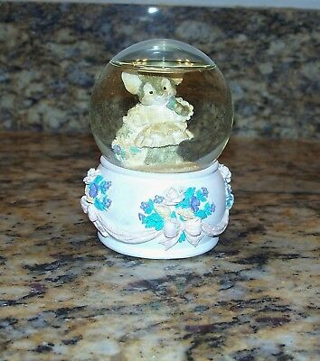 Mouse & Roses Musical Miniature Snow Globe These Are A Few Of My Favorite Things