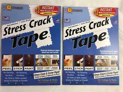NEW 40 Pieces Stress Crack Tape Stepsaver Self Adhesive Paint Ready Ceiling Wall