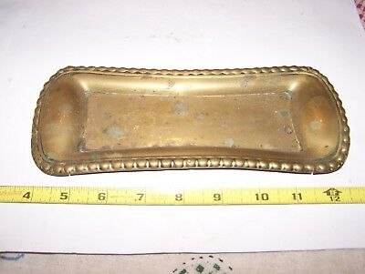 Old VICTORIAN ERA Brass Stamped Tip Tray General Store Tavern Grocery Saloon WOW