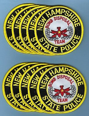 New Hampshire State Police Bomb Disposal Team Patches ~ For Trading / Selling