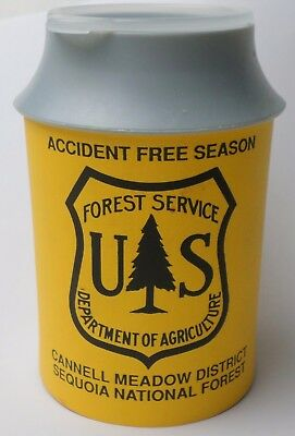 OBSOLETE Vintage USDA Forest Service Service Accident Free Season Insulated Cup