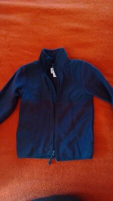 Children's Place Navy Blue Fleece and Nylon Spring/Fall Jacket Size 5T