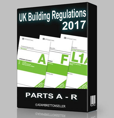 UK Building Regs / Regulations 2017 - Part A to R - PDF CD FREE POSTAGE