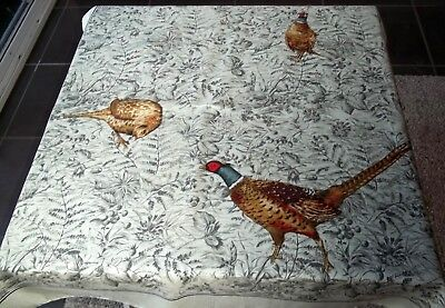 Vintage John Wallace Silk Head Square Scarf Pheasants Country Bush Game Birds UK