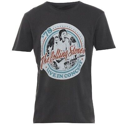 The Rolling Stones - Tour '78 - Official Mens Amplified T Shirt
