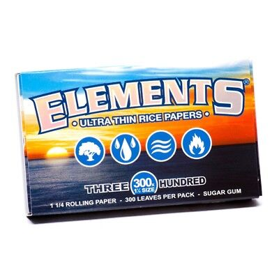 3 ELEMENTS Rolling Papers 300s Rice Natural Ultra Thin Slow Burning 1 1/4
