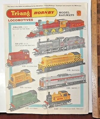1966 Tri-Ang-Hornby Ho Gauge Model Trains Scalextric Australia Catalogue Extra!!