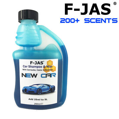 F-JAS Triple Wax Scented Car Shampoo with CAR PERFUME EFFECT 250ml Concentrate