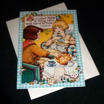 """Mary Engelbreit """"A constant FRIEND..."""" note card w/envelope"""