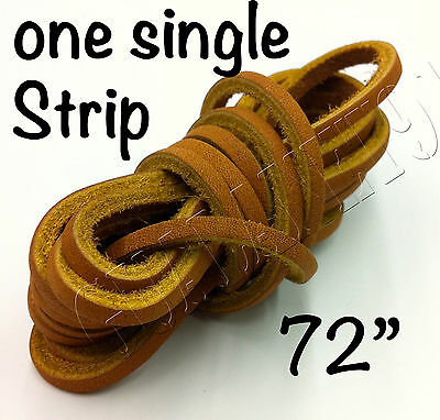 """1 STRIP - 1/8""""X72"""" Rawhide Leather Shoe Lace String Shoelace Bootlace Cord"""